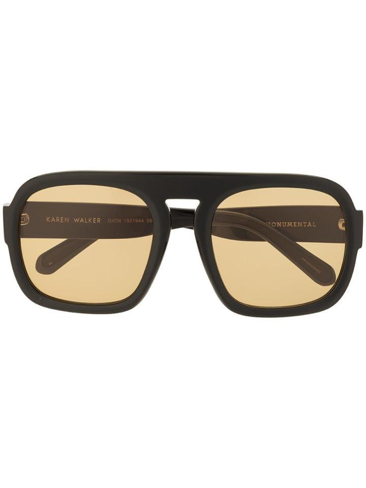 Karen Walker Gion Sunglasses - Black