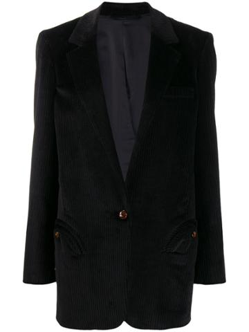 Blazé Milano Corduroy Tailored Blazer - Black