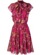 Etro Tie Neck Dress - Red