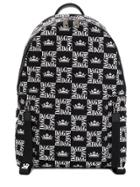 Dolce & Gabbana All Over Print Backpack - Black