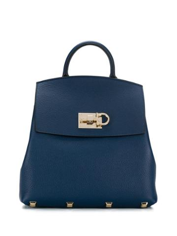 Salvatore Ferragamo The Studio Backpack - Blue