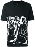 Oamc - Printed T-shirt - Men - Cotton - Xs, Black, Cotton