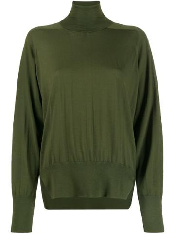 Boon The Shop Roll Neck Boxy Sweater - Green