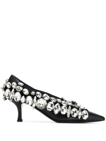 Nº21 Embellished Mid-heel Pumps - Black