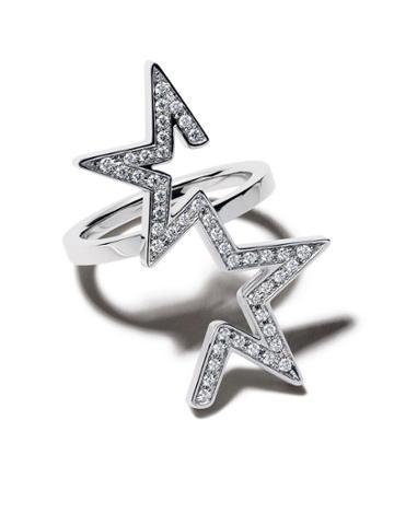 Tasaki 18kt White Gold Diamond Abstract Star Ring