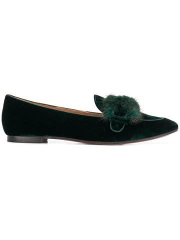 Aquazzura Montaigne Moccassins - Green