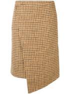 Jovonna Checked Skirt - Neutrals