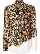 Moschino Leopard Print Blouse - Orange