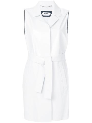 Pihakapi Sleeveless Coat - White