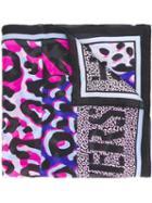 Versace 'animalier' Leopard Print Scarf, Women's, Silk