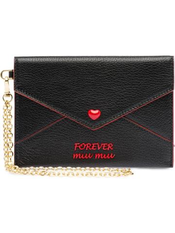 Miu Miu Forever Miu Miu Wallet - Black