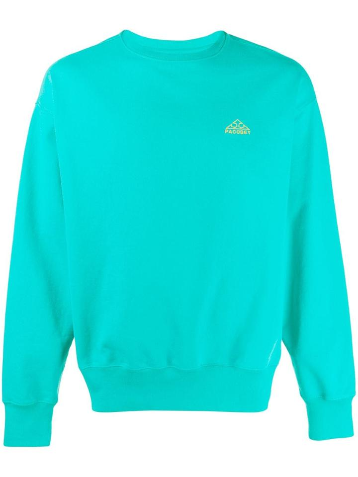 Rassvet Embroidered Logo Sweatshirt - Green