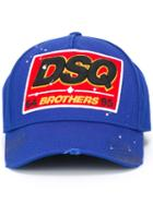 Brothers Baseball Cap, Men's, Blue, Cotton, Dsquared2