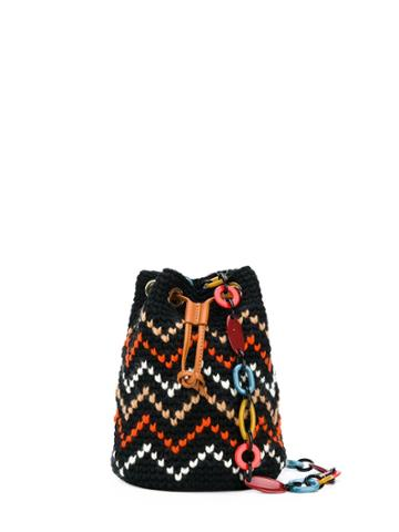 Missoni Zigzag Knit Bucket Bag - Black