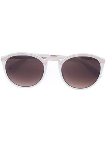 Carolina Herrera Round Sunglasses - White