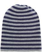 Danielapi Horizontal Striped Beanie - Grey