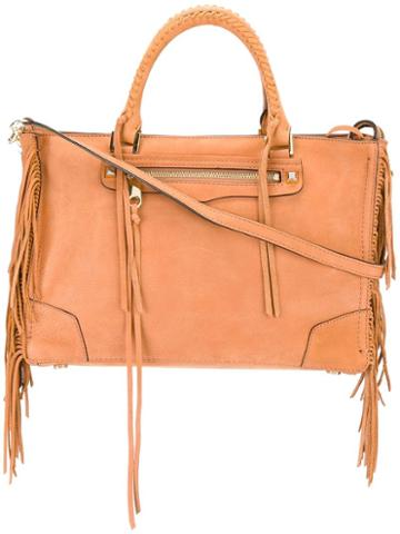 Rebecca Minkoff Large Fringed Tote, Women's, Nude/neutrals