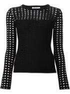 T By Alexander Wang Perforated Longsleeve Top