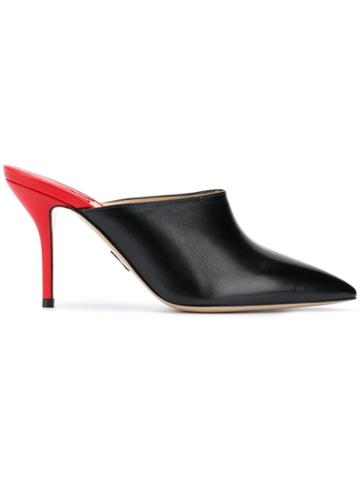 Paul Andrew Pointed Mules - Black