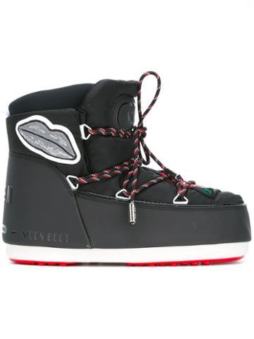 Msgm Msgm X Moon Boot Apres-ski Boots, Black, Nylon/polyurethane/polyamide/rubber