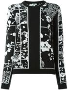 Kenzo 'tanami Flower' Jumper, Women's, Size: Small, Black, Cotton