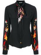 Rockins Floral Print Shirt - Black