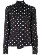 Vivetta Polka Dot Blouse - Black