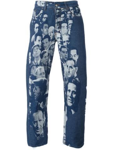 Jean Paul Gaultier Vintage Jacquard Face Jeans