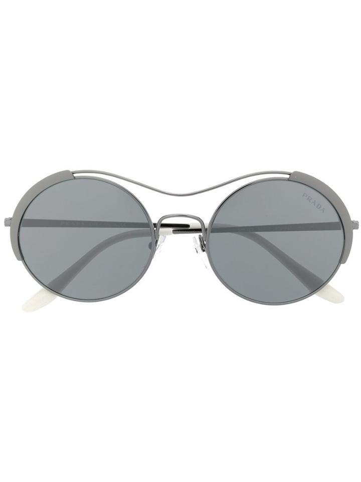 Prada Eyewear Round Sunglasses - Grey