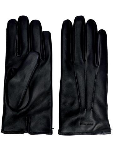 Giorgio Armani Logo-embossed Gloves - Black