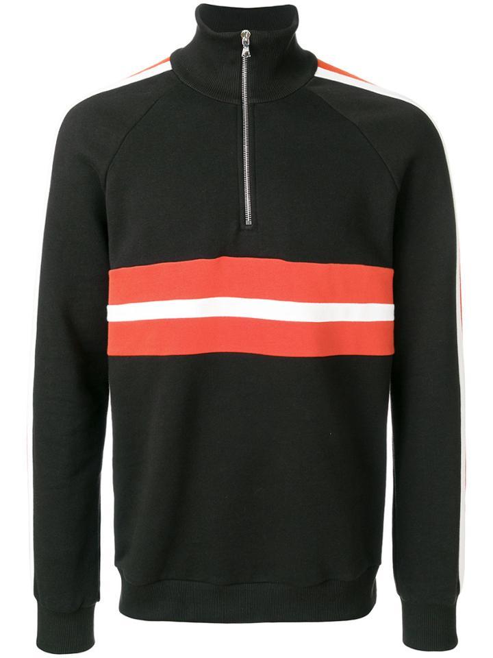 Harmony Paris Zip Collar Sweatshirt - Brown