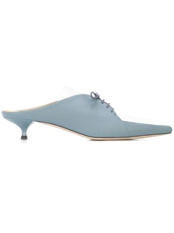 Rosie Assoulin Lace-up Formal Sliders - Blue