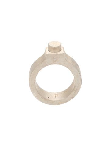 Parts Of Four Flat Sphere Ring, Adult Unisex, Size: 9, Metallic