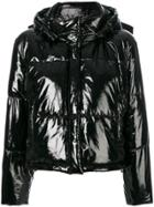 Msgm Hooded Puffer Jacket - Black