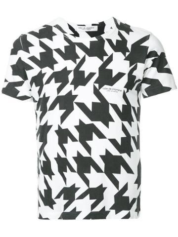Comme Des Garçons Vintage Houndstooth Slim T-shirt - White