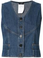 Chanel Vintage Sleeveless Vest Top - Blue
