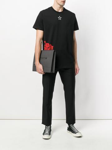 Givenchy Streamlined Messenger Bag - Grey