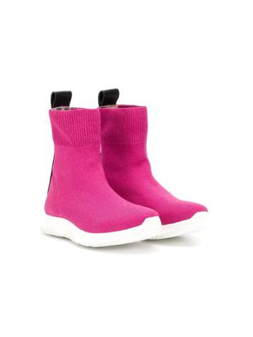 Roberto Cavalli Junior Teen Sock-style Boots - Pink