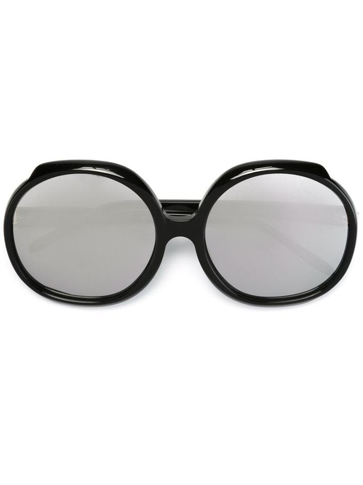 Linda Farrow '417' Round Sunglasses
