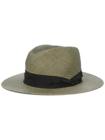 Rag & Bone Panama Hat, Women's, Size: 55, Green, Straw/cotton/viscose