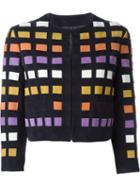 Drome Square Pattern Jacket, Women's, Size: S, Blue, Cupro/leather