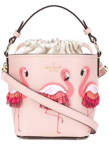 Kate Spade Flamingo Embellished Tote Bag - Pink & Purple