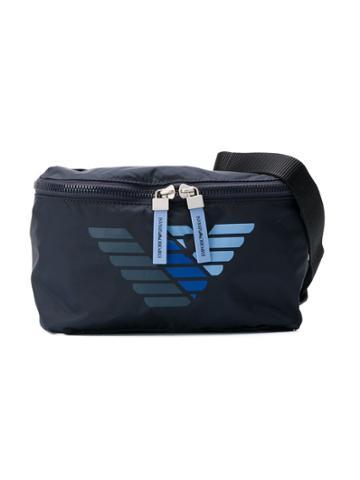 Emporio Armani Kids Teen Zipped Belt Bag - Blue