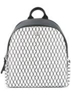 Mcm Printed Backpack - Black