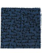 Hemisphere Patterned Scarf - Blue