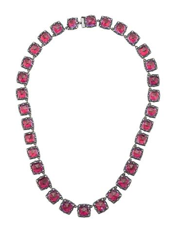 Larkspur & Hawk Bella Graduated Scarlet Necklace - Metallic