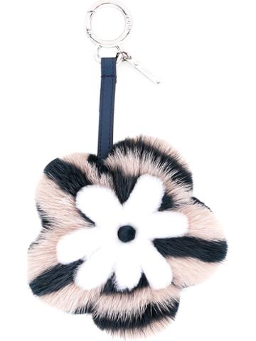 Fendi - Flower Charm - Women - Mink Fur - One Size, Pink/purple, Mink Fur