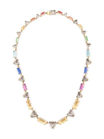 Larkspur & Hawk Caterina Multi Geometric Necklace - Gold