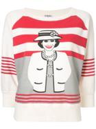 Chanel Vintage Mademoiselle Print Sweatshirt - White