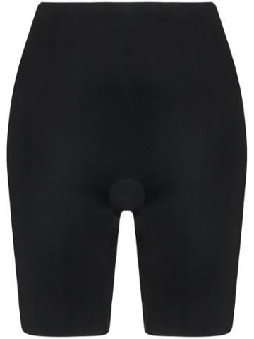 Spanx Suit Your Fancy Booty Booster Mid-thigh Briefs - Black